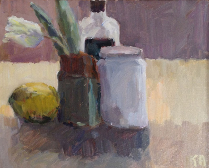 "White Tulip & Lemon | 8"" x 10"" | $700"