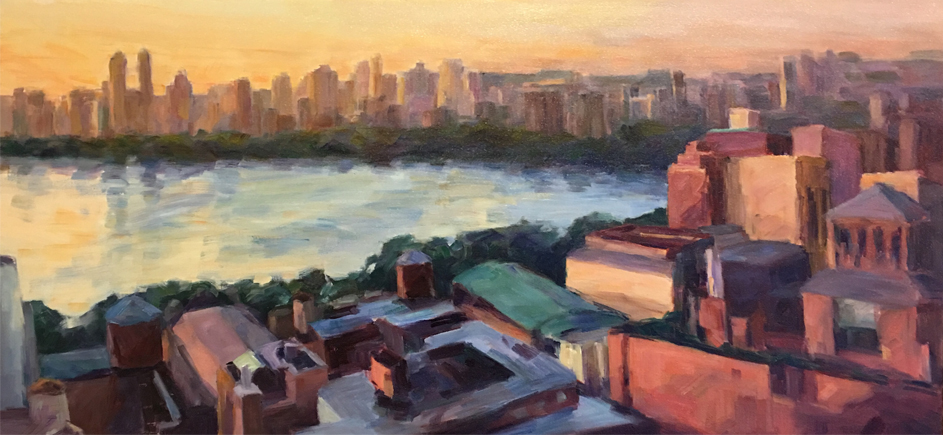 """From the 22nd Floor 1   18"""" x 26""""   Price $3000"""