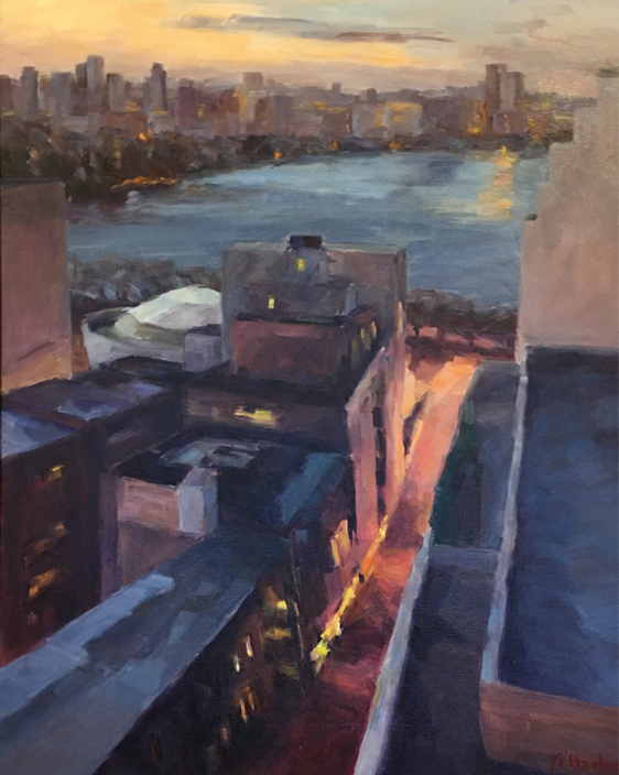 """From the 22nd Floor 2   30"""" x 24""""   SOLD"""