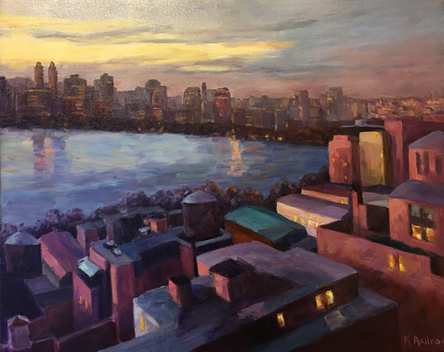 """From the 22nd Floor 3   30"""" x 24""""   SOLD"""