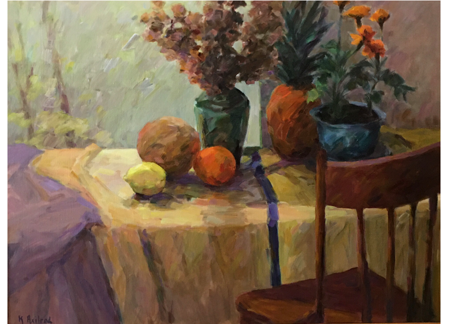 """Yellow Tablecloth 