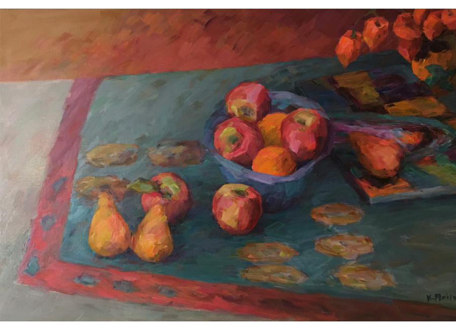 """Apples, on Indian Spread 