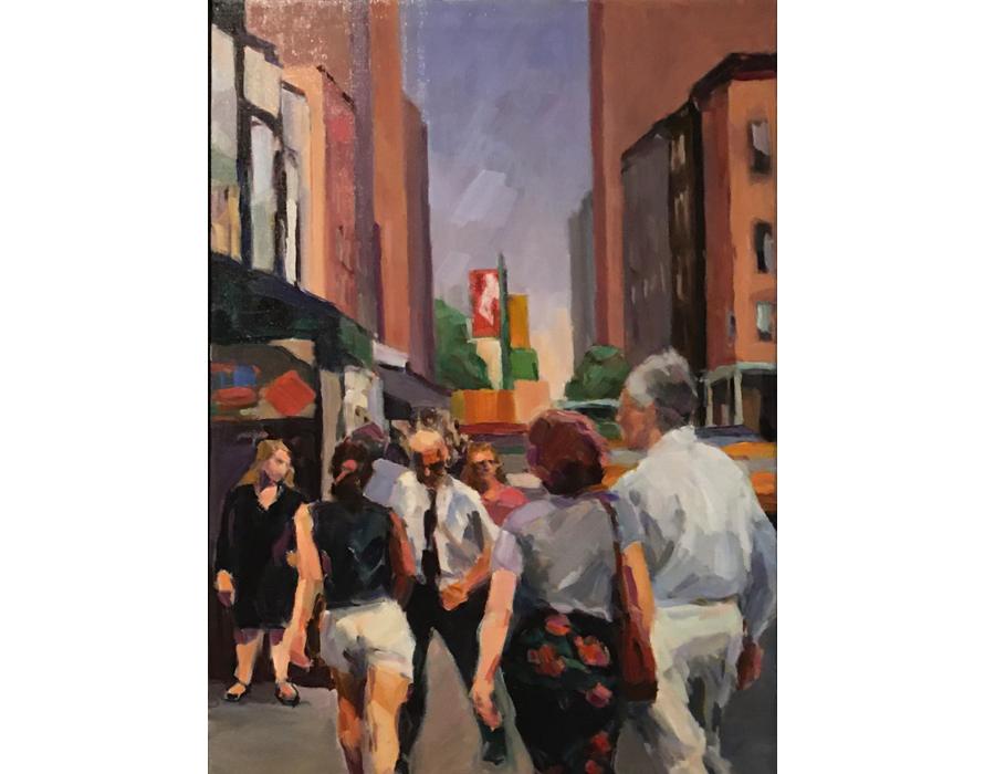 "Street Scene #1 | 24""x18"" | $800"