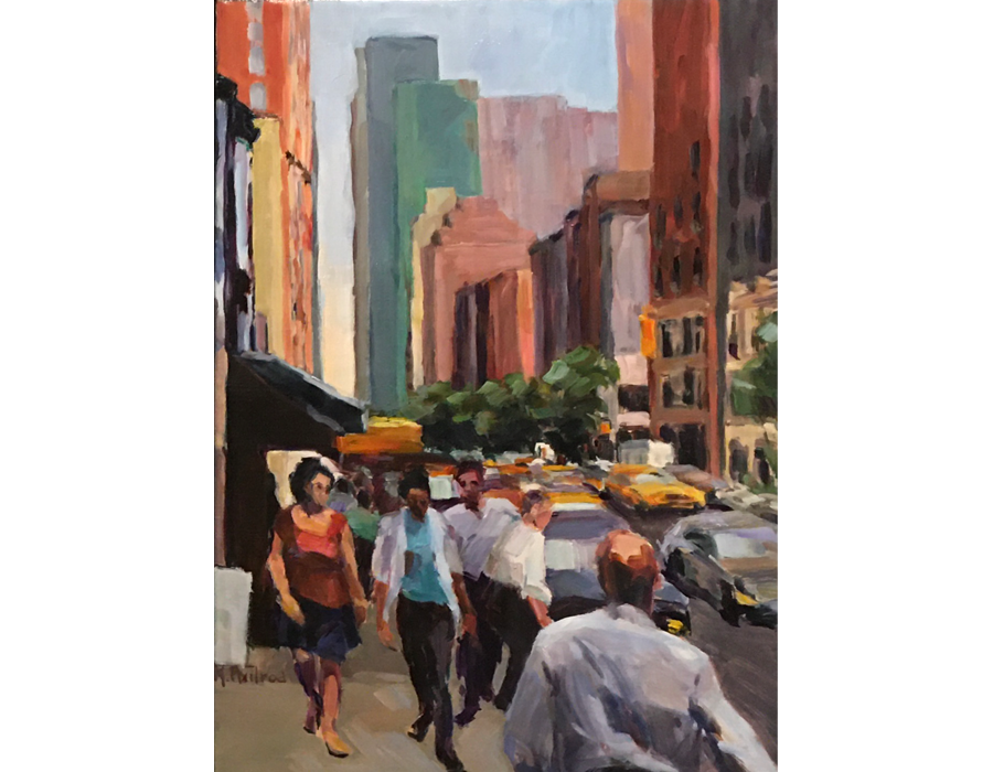 "Street Scene #2 | 24""x18"" | $800"
