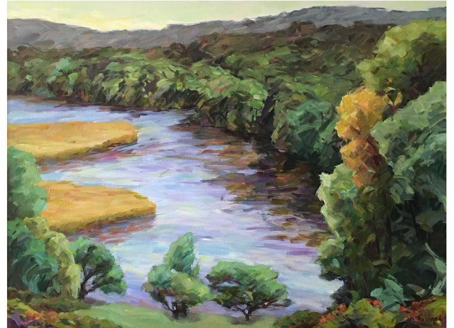 """Eight Mile River   30""""x40""""   $3000"""