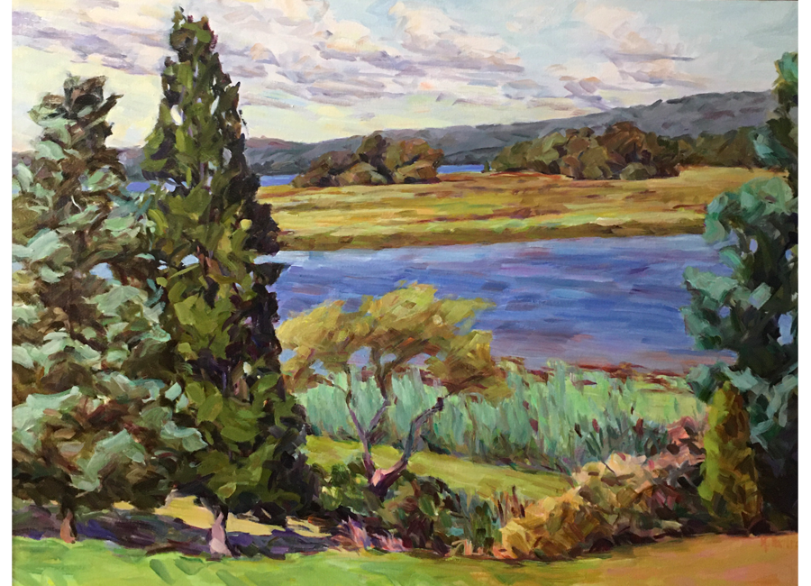 "River Wetlands   30""x40""   $3000"