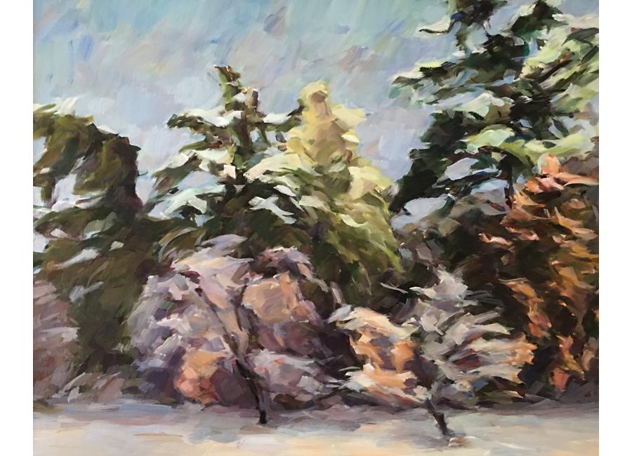 """Winter Trees #1   20""""x16""""   $1500"""