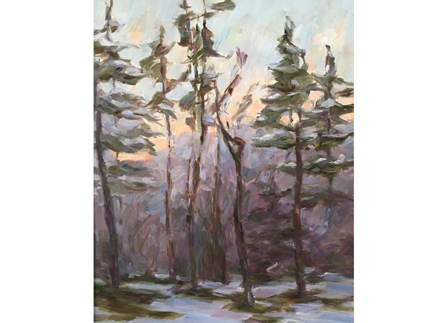 """Winter Trees #3   20""""x16""""   $1500"""