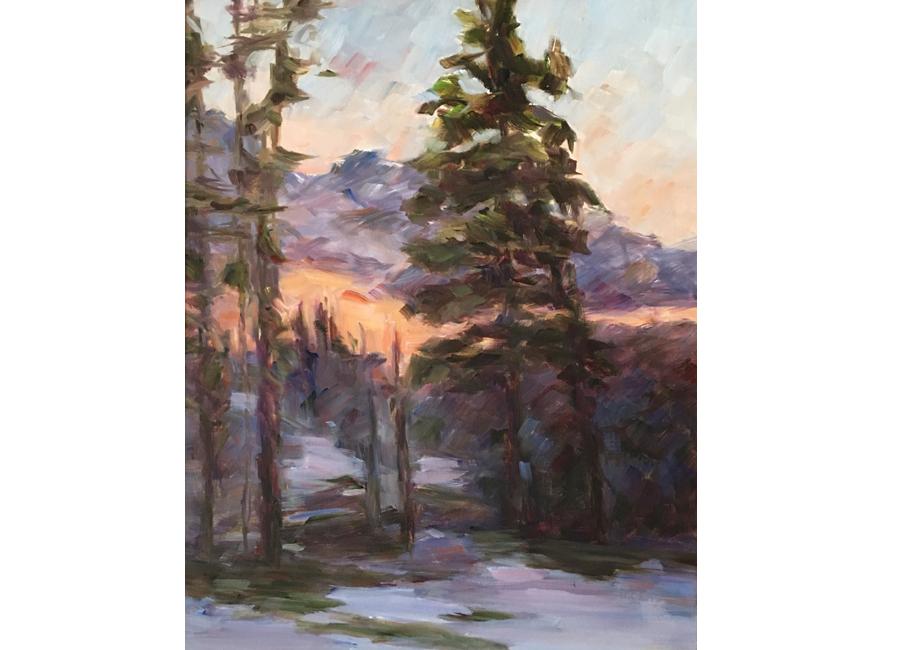 """Winter Trees #4   20""""x16""""   $1500"""