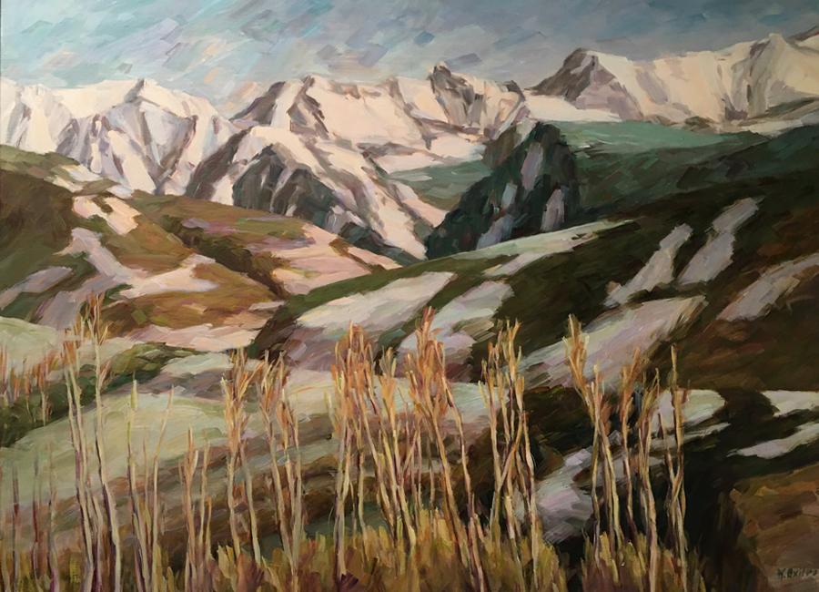 """Winter Mountains   36""""x48""""   $5000"""