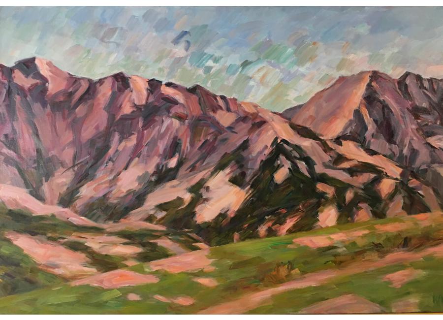 """Summer Mountains   24""""X36""""   $2500"""
