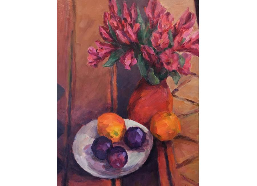 "Orange Still Life | 20""x16"" | $1000"